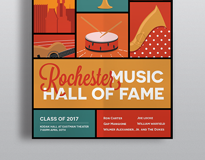 Rochester Music Hall of Fame Poster