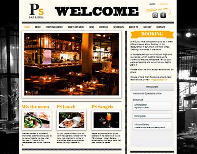 PS Bar & Grill - Web design for Wordpress