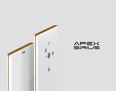 """White sensation"" APEX SIRIUS concept smartphone"