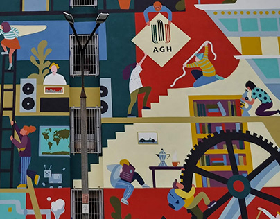 Mural for AGH