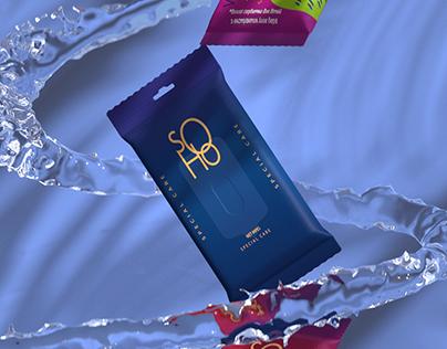 Wet wipes advertising | SOHO brand