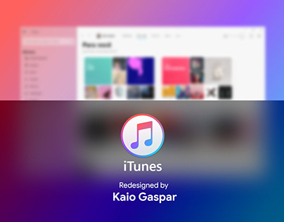 Redesign iTunes - Fluent Design