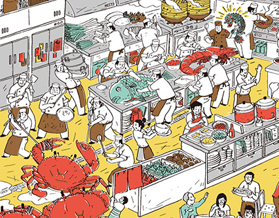阿霞飯店包裝插畫 Tainan A-Sha Packaging Illustration