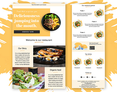 Restaurant Email Template | Email template