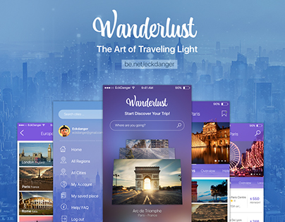 Wanderlust Travelling App iOS
