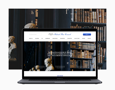 Landing page for organization of lawyers