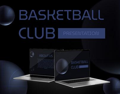 Basketball Club - free Google Slides Template