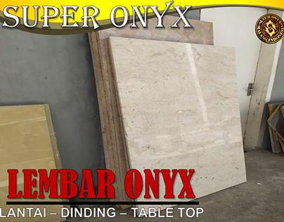 Supplier Marmer Lantai Pontianak| SUPER ONYX