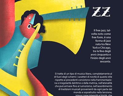 Illustration   Free Jazz Poster