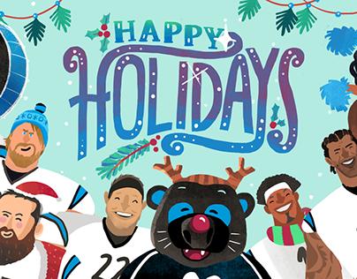 Carolina Panthers Animated Holiday Video