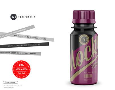 Glossy Sport Nutrition Bottle Mockup 60ml