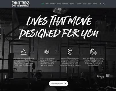 Gym WordPress Theme - Lives Section