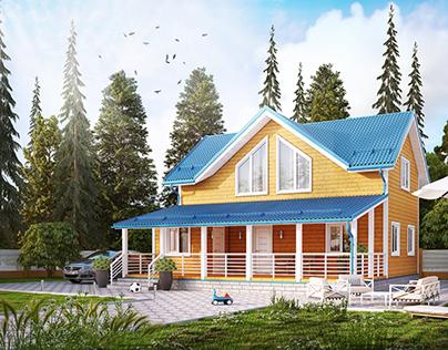 Каркасный дом 10×10м