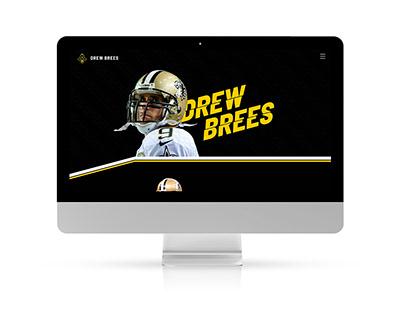 Image de marque et site web pour Drew Brees