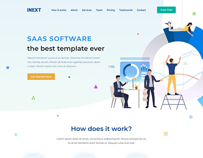 SAAS One Page Design