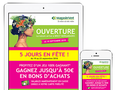 Emailing responsive Magasin Vert