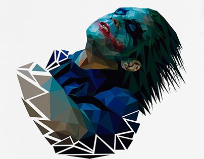 The Dark Knight Joker - Low Poly Portrait