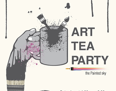 THE PAINTED SKY (art tea party by opus)