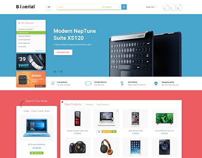 Binerial - Material Electronic Shopify Theme