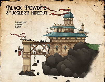 Black Powdy's smuggler hideout map