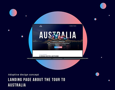 Landing Page about the tour to Australia