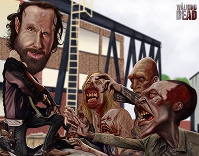 Caricatura de la serie The Walkind Dead