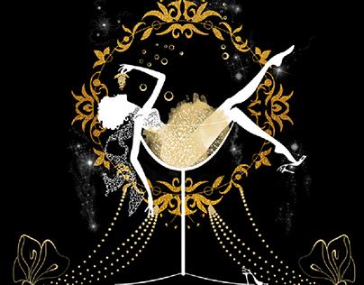 Elegant silhouettes. Flat style illustration