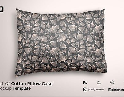 Set Of Cotton Pillow Case Mockup