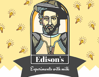 Menu Design // Edison's Experiments With Milk