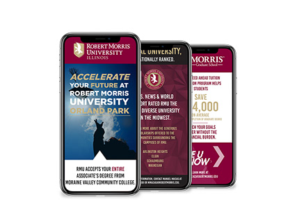 Various Pieces for Robert Morris University Marketing