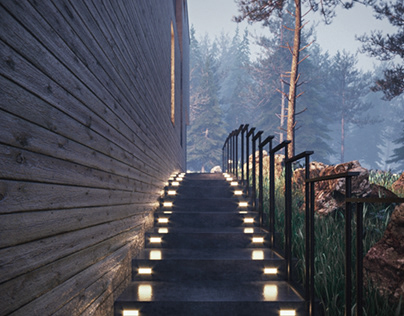 Altair_Exterior Corona Render itoo Forest +railclone