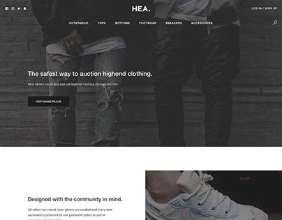 HEA - High Street Auctions (Web Design)