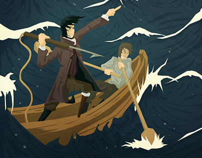 Moby Dick Illustration