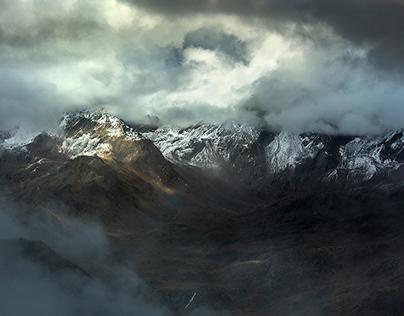 Misty impressions. Ötztal Alps. Austria.