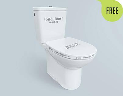 Free Toilet Bowl Mockup