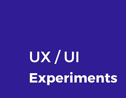 UX / UI Experiments