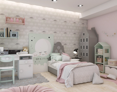 Children's bedroom. Sweet dreams.