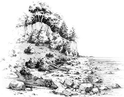 landscape - cliff over the sea