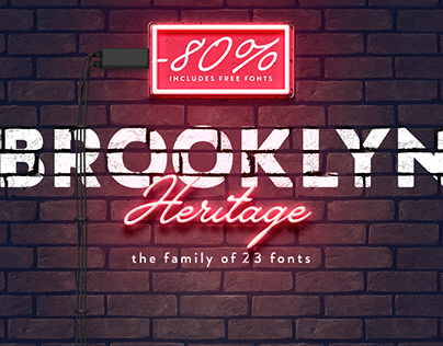 Brooklyn Heritage Font Family