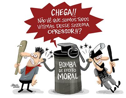 Charges publicadas em Jornal O Vale - SP