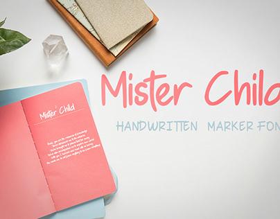 Mister Child - Handwritten Font