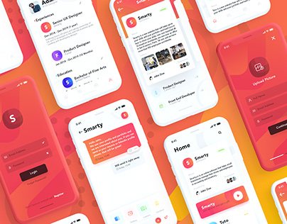 Smarty - Mobile Jobs and Connection Network App UI Kit