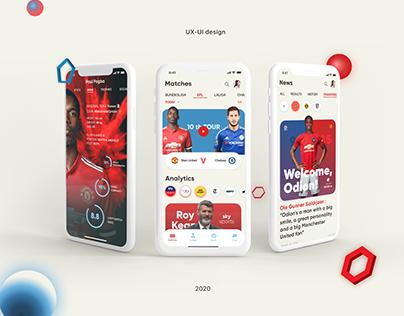 Watch your Match IOS app, UX/UI design concept