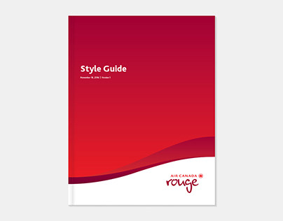 Air Canada Rouge Style Guide