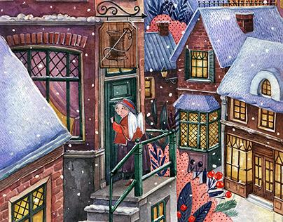 Christmas stories book.