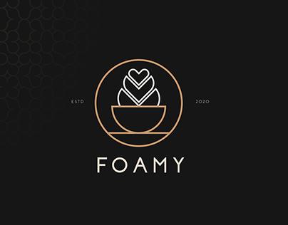 foamy coffee shop logo design