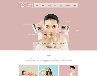 Aqua - Spa and Beauty Responsive  WordPress Theme