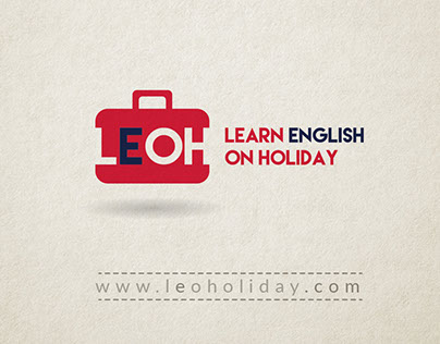 The branding for Learn English On Holiday