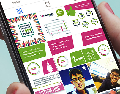 Healthwatch Infographic & Social Media Content