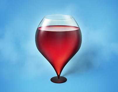 Wineglass. Location icon